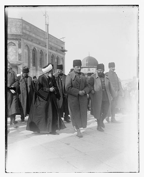 489px-enver pasha visiting the dome of the rock