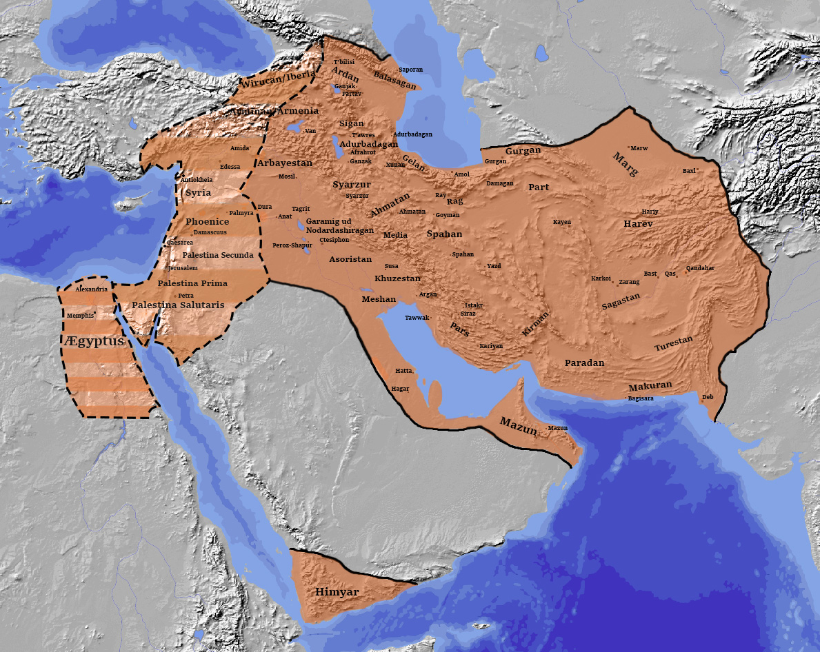 Sasanian Empire Greatest Extent 621 A.D