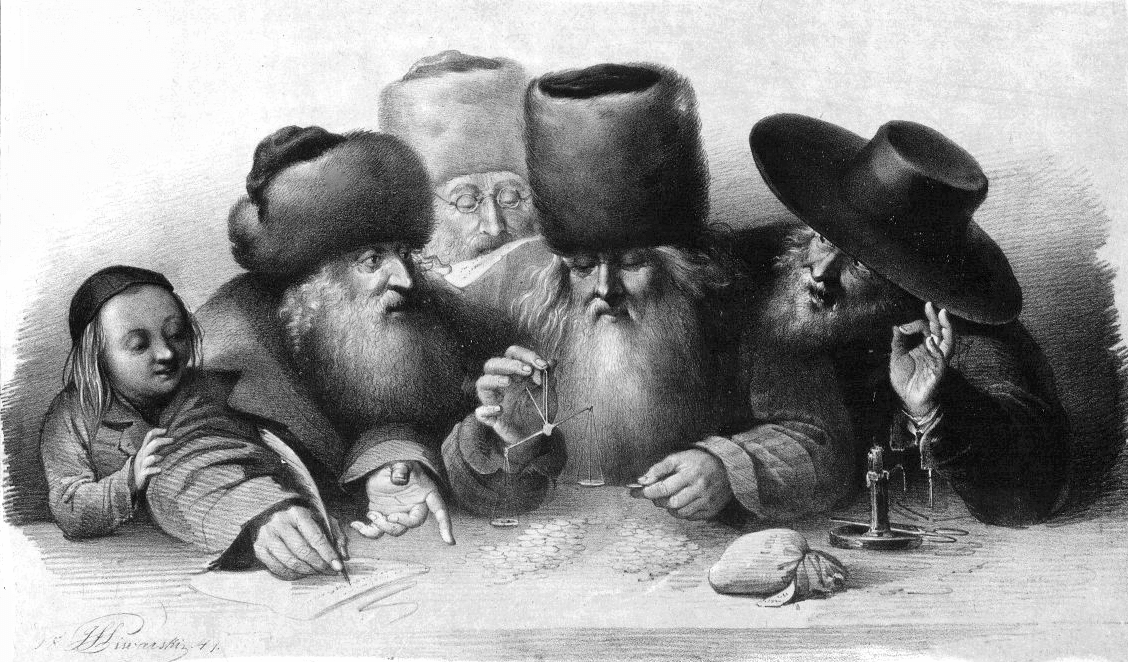 Jewish merchants in XIX century Warsaw 1